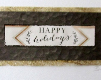 Christmas card, modern card, handmade card, original art, FREE SHIPPING in U.S.