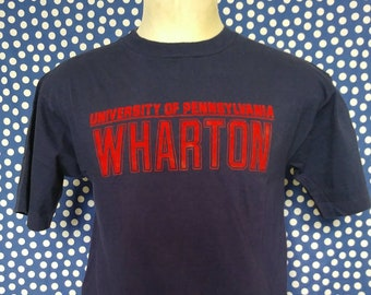 5ead54245 1980 s Wharton flocked lettering t-shirt