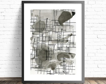 Abstract Architectural Print . Black and White Abstract Print . Modern Abstract print . Contemporary wall art . Brutalist print
