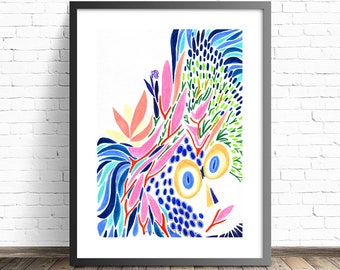 Colorful Wall Art . Abstract painting . Modern prints. Abstract print . Modern art print . Colorful Abstract art prints . Modern home decor