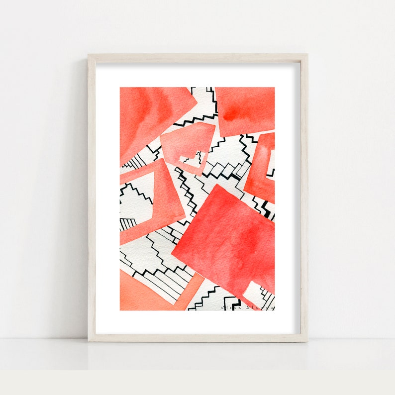 Other Home Arts & Crafts Useful Abstract Geometric Fine Art Giclee Print From Original Modern Artwork Wall Decor High Quality