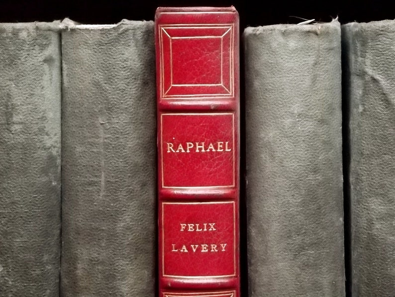 Leather bound book History of Art book Raphael by Felix image 0