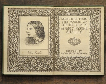Poetry book, Selections from the Poems of John Keats and Percy Bysshe Shelley