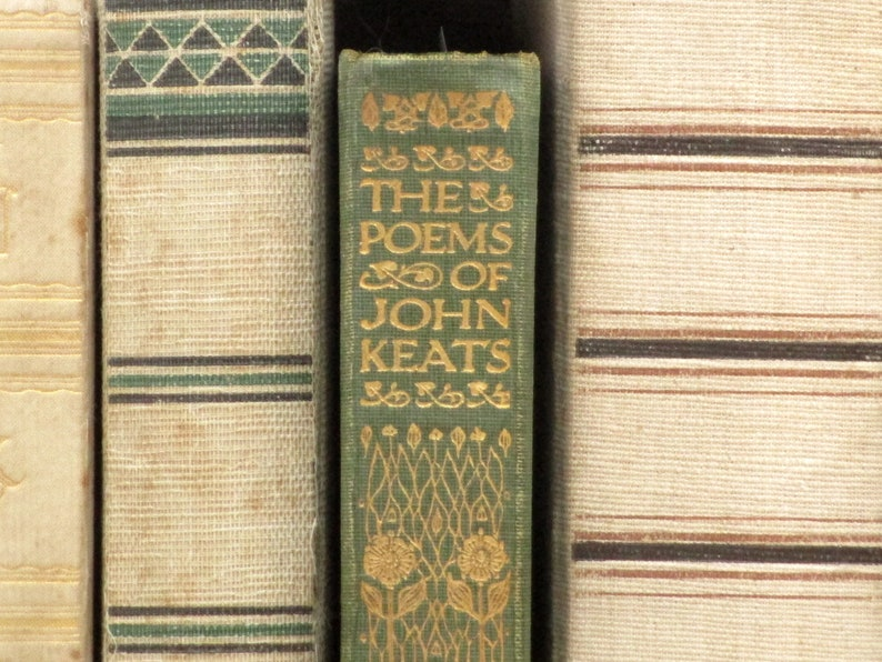 Antique book 1910s poetry book The Poems of John Keats image 0