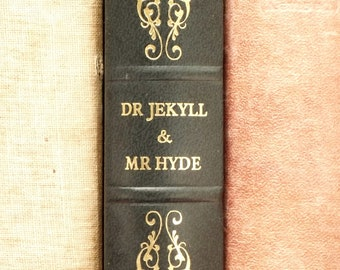 Dr Jekyll and Mr Hyde vintage book bound in dark blue faux leather