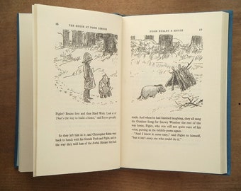 Vintage Winnie the Pooh book illustrated by E. H. Shepard The House at Pooh Corner by A. A. Milne, children's book with tears.