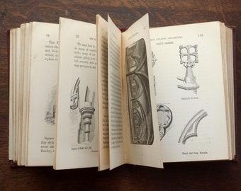 Antique Gothic Architecture book, Victorian title