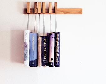 MINI Custom made wooden book rack / magazine rack in Oak / bookshelf