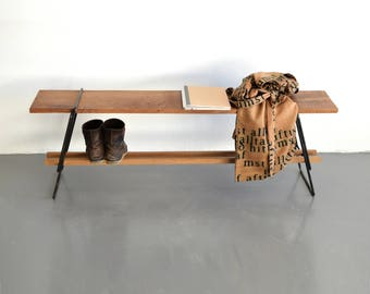 AGUSTAV bench. Nordic minimalistic design, handmade in Iceland.
