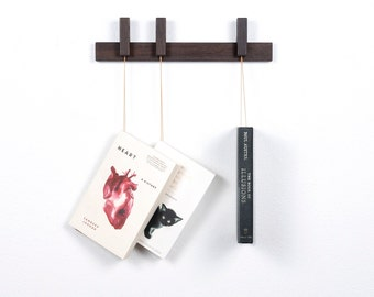 MINI Custom made wooden book rack / bookshelf in fumed oak.