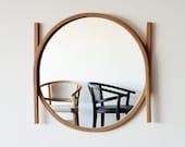 Mirror in fumed oak or oak. Handmade, Eco friendly.