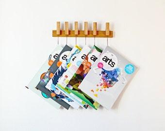 MINI Custom made wooden book rack / magazine rack in Oak.