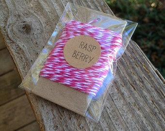 10 Yards • Timeless Twine Baker's  Twine / String • 4-Ply • 100% Cotton •  Gift Wrap • Craft •  Raspberry