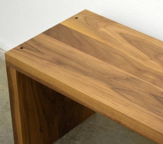 Brilliant Modern Solid Walnut Wood Bench Ibusinesslaw Wood Chair Design Ideas Ibusinesslaworg