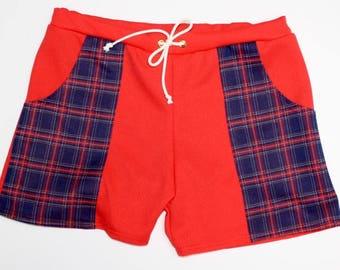 ed52feec4b4fe Frankie Four Handmade Vintage Style Men's Poppy Red Swim Trunks
