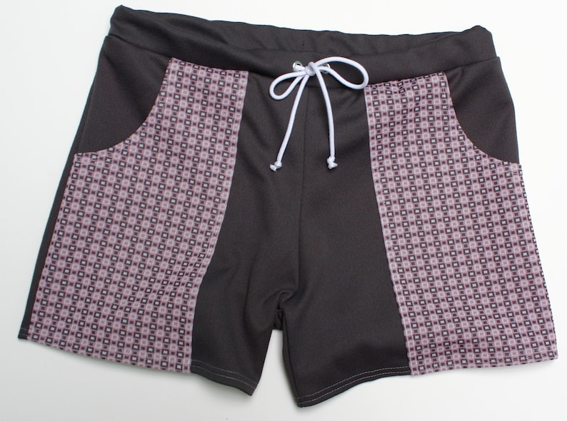 Frankie Four Handmade Vintage Style Grey Men/'s Swim Trunks