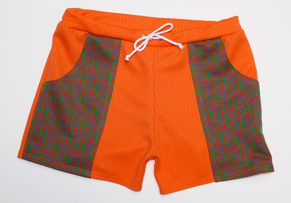 Vintage Men's Swimsuits – 1930s to 1970s History Frankie Four Handmade Vintage Style Mens Orange Swim Trunks $64.00 AT vintagedancer.com