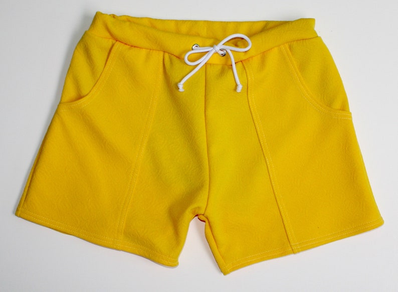 Vintage Men's Swimsuits – 1930s to 1970s History Frankie Four Handmade Vintage Style Mens Yellow Swim Trunks $64.00 AT vintagedancer.com