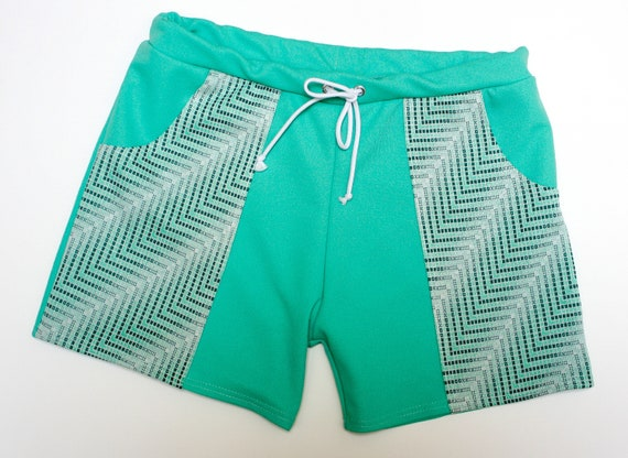 Vintage Men's Swimsuits – 1930s to 1970s History Frankie Four Handmade Vintage Style Mens Mint Green Swim Trunks $64.00 AT vintagedancer.com