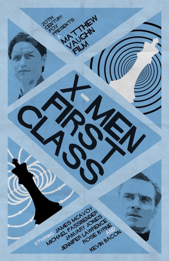 X-Men First Class Retro Film Poster v.2