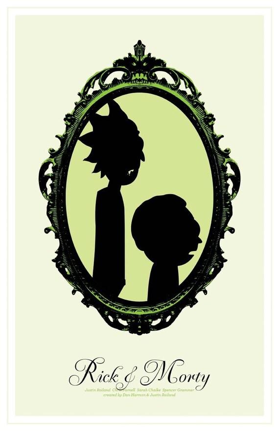 Rick y Morty poster print-A2 A3 A4 A5