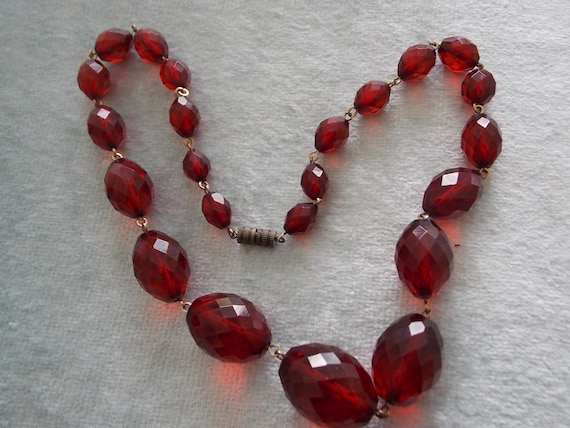 Vintage Cherry Amber Necklace WOW