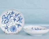 Meissen Germany Blue Onion Fruit Dishes