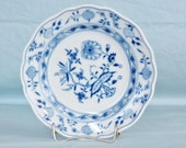 Meissen Germany Blue Onion Bread and Butter Plate