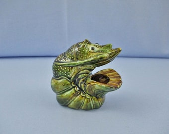 Vintage Majolica Hand Made Ashtray of a Lobster