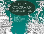 Digital Download Version -  Colouring Calendar 2020 by Kelly O'Gorman