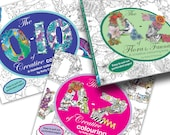 All 3 books - A to Z of Creative Colouring , 0-10 of Creative Colouring & The A-Z of Flora and Fauna by Kelly O'Gorman