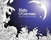 2019 Colouring Calendar by Kelly O'Gorman