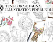 10 Flora and Fauna PDF - Illustration PDF Bundle