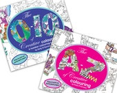 The A to Z of Creative Colouring and The 0-10 of Creative Colouring by Kelly O'Gorman