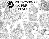 PDF Inktober Bundle by Kelly O'Gorman - 9 Images