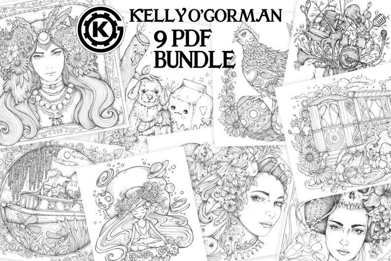 PDF Inktober Bundle by Kelly O'Gorman  9 Images image 0
