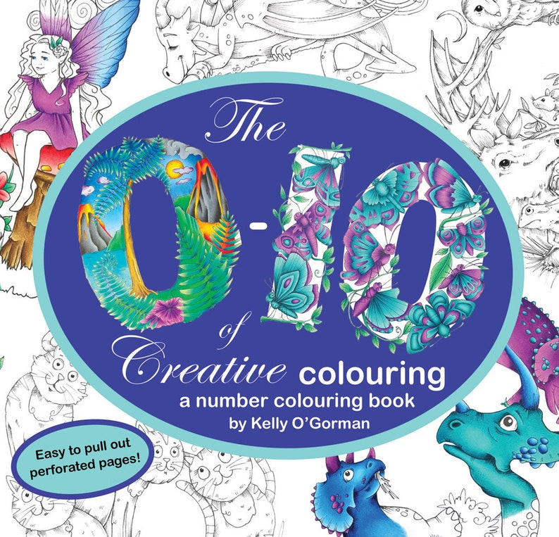 The 0-10 of Creative Colouring by Kelly O'Gorman image 0