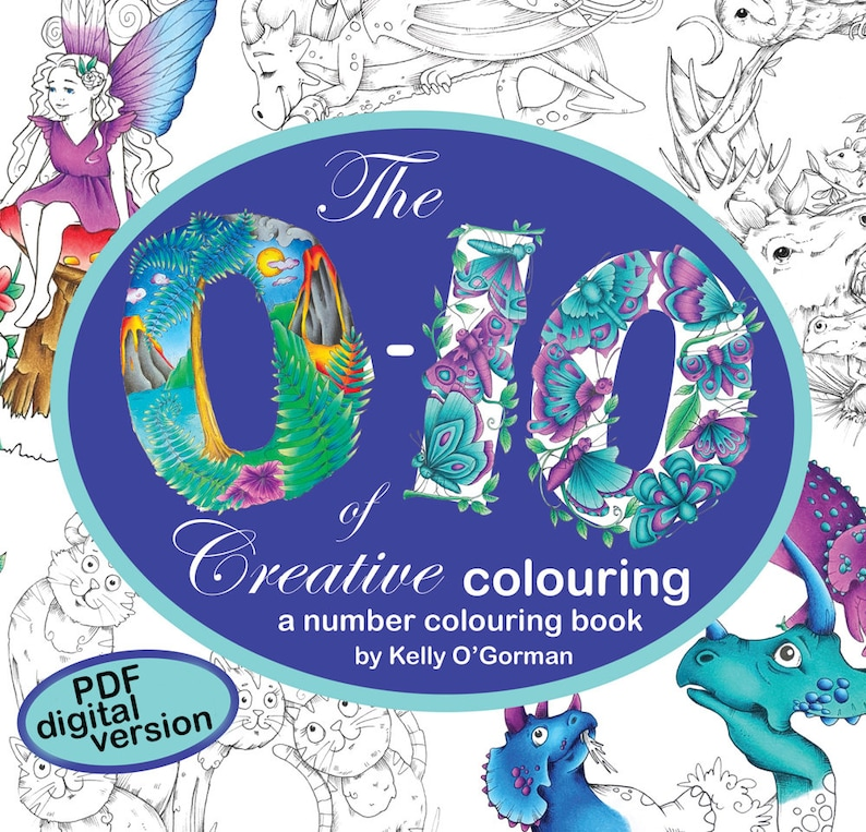Digital Download of The 0-10 of Creative Colouring by Kelly image 0