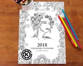 12 images from the 2018 Colouring Calendar by Kelly O'Gorman