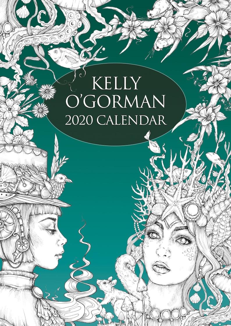 2020 Colouring Calendar by Kelly O'Gorman image 0