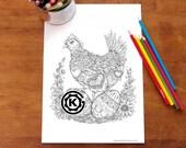 Mama Hen -  Instant PDF Download