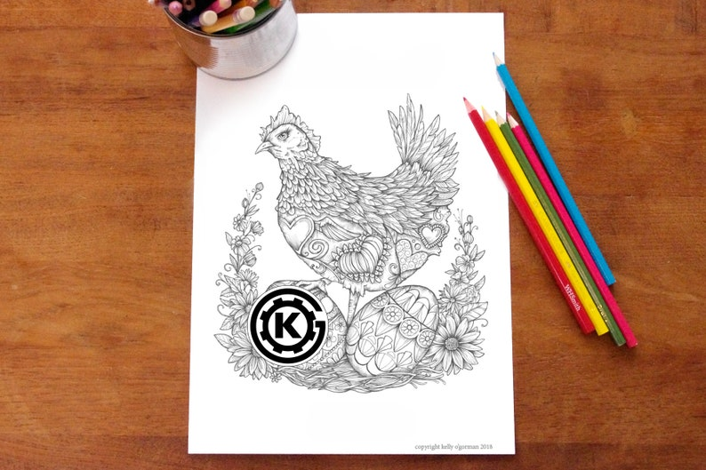 Mama Hen   Instant PDF Download image 0