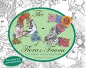 PDF Instant Download -  A-Z of Flora and Fauna - A creative colouring book by Kelly O'Gorman