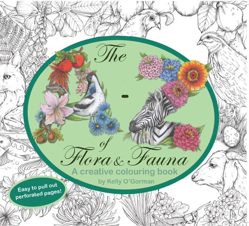 02378534cc77 The A-Z of Flora and Fauna A creative colouring book by
