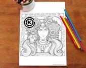 Bohemian Girl -  Instant PDF Download