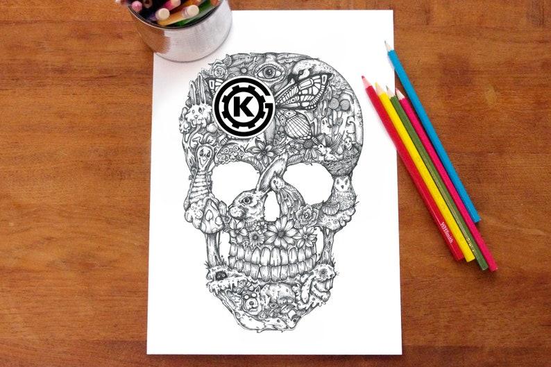 Nature Skull by Kelly O'Gorman image 0