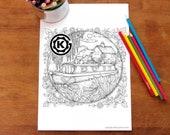 Narrow Boat -  Instant PDF Download