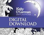 Kelly O'Gorman 2019 Calendar Digital Download, contains images & dates for you to print