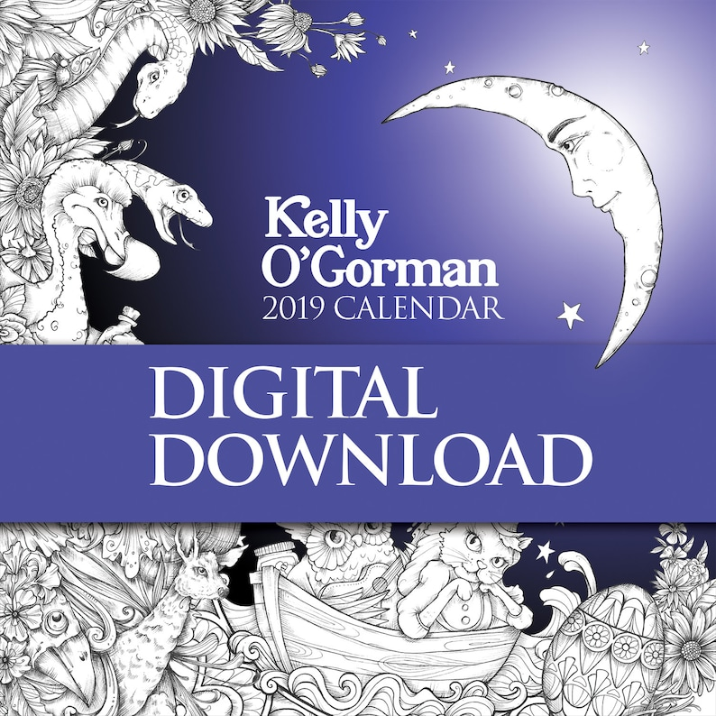 Kelly O'Gorman 2019 Calendar Digital Download contains image 0