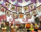 PDF Instant Download - Happy Halloween Letters - 14 unique spooky letters